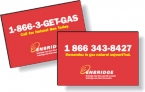 Promotional products: .040 Custom Shape Double-Sided Magnets (5.1 to 6 square inches) Screen-printed