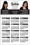 Promotional products: 14 pt Card stock Calendars with Magnetic Back (4