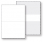 Promotional products: Econo White Vinyl Wallet business card holder, open size (3.88