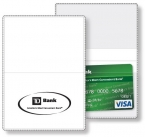 Promotional products: Econo White Vinyl Wallet business card holder open size (3.875