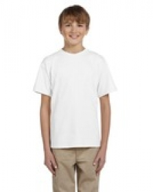 Promotional products: Fruit of the Loom® Youth 8.3 oz., 100% Heavy Cotton HD® T-Shirt White