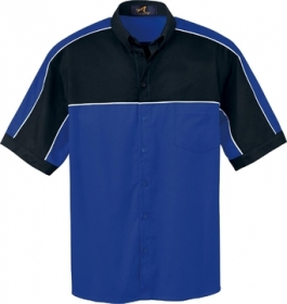 Promotional products: MEN'S COLOUR-BLOCK SHORT SLEEVE SHIRT