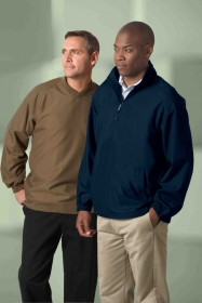Promotional products: MEN'S M•I•C•R•O PLUS RAGLAN WINDSHIRT WITH TEFLON ®