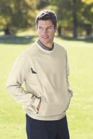 Promotional products: MEN'S LIGHTWEIGHT CREW NECK WINDSHIRT