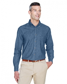 Promotional products: Men's 6.5 oz. Long-Sleeve Denim Shirt