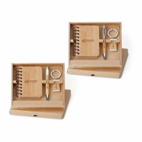 Promotional products: Bamboo 3 Piece Gift Set