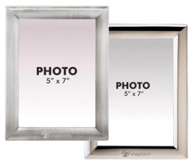 "Promotional products: Metal 5"" x 7"" photo frame"