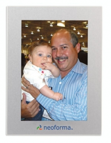 "Promotional products: Aluminum 4"" x 6"" photo frame"