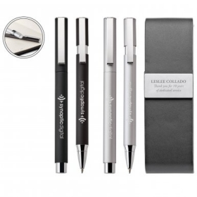 Promotional products: Willow Ballpoint & Rollerball Set