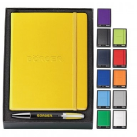 Promotional products: Melody 2⊓tone & neoskin¾ pen & journal gift set