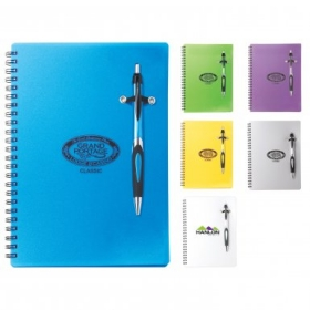 Promotional products: Helix Polypro Notebook Combo