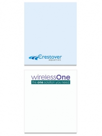 "Promotional products: 2 1/2"" x 3"" adhesive notepads"