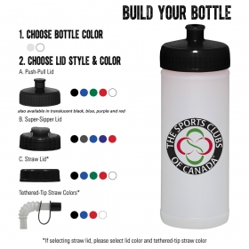 Promotional products: 16-oz. Sports Bottle - Natural/White