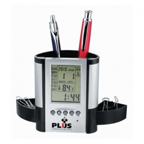 Promotional products: Clock / Desk Organizer