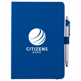 "Promotional products: 6"" X 8.5"" Crown Journal With Pen-stylus"
