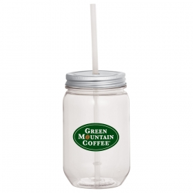 Promotional products: Mason Jar 22oz With Silver Tin Lid