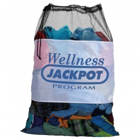 Promotional products: Mesh Laundry Cinch Bag