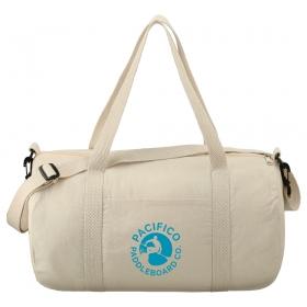 "Promotional products: Barrel 18"" 5oz Cotton Canvas Duffel Bag"