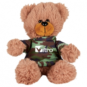 "Promotional products: 6"" Sitting Plush Bear With Shirt"