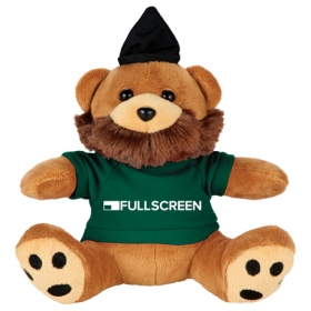"Promotional products: 6"" Plush Hipster Bear With Shirt"
