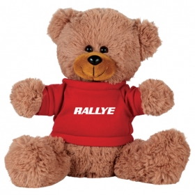 """Promotional products: 8"""" Sitting Plush Bear with Shirt"""