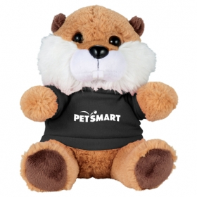 "Promotional products: 6"" Beaver Plush Animal With Shirt"