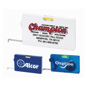 Promotional products: Rectangular Tape Measure with Level