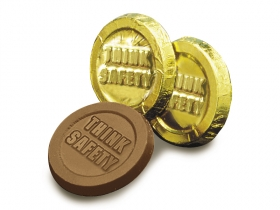 Promotional products: Think safety coin