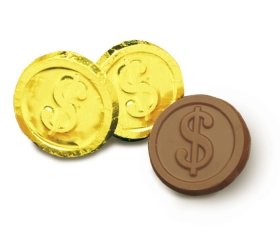 Promotional products: Dollar sign coin