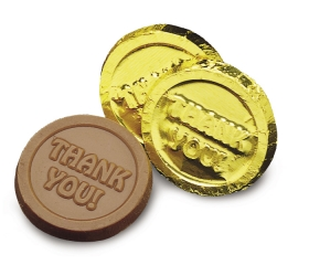 Promotional products: Thank you coin