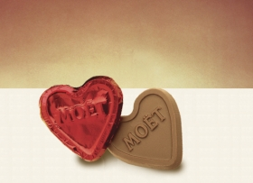 Promotional products: Custom Foiled Chocolate Hearts