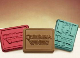Promotional products: Custom Foiled Chocolate Rectangles