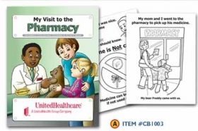 Promotional products: Coloring book: Pharmacy