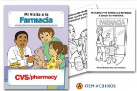 Promotional products: Coloring book: Farmacia (Spanish)