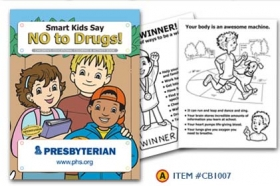 Promotional products: Coloring book: No to Drugs