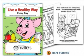 Promotional products: Coloring book: Live a healthy Way