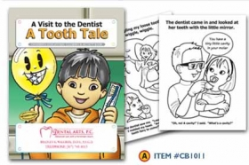 Promotional products: Coloring book: Dentist
