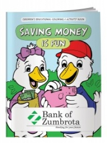 Promotional products: Coloring book: saving money is fun