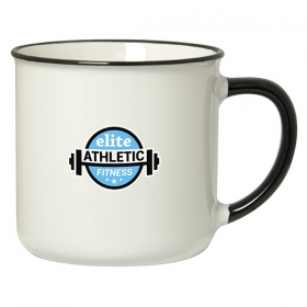 Promotional products: Spring 350 Ml. (12 Oz.) Mug With Coloured Rim/handle