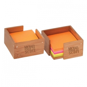 Promotional products: BAMBOO STICKY NOTE/MEMO HOLDER