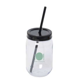 Promotional products: Jolly Maxer 700 Ml. (23.5 Oz.) Acrylic Mason Jar Tumbler