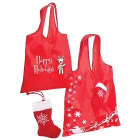 Promotional products: STOCKING FOLDING TOTE