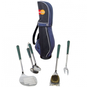 Promotional products: 24� GOLF BAG/4 PIECE BBQ TOOL SET