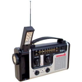 Promotional products: SOLAR HAND CRANK/SHORT WAVE RADIO