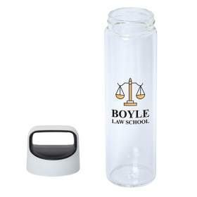 Promotional products: 600 Ml. (20 Oz.) Glass Water Bottle