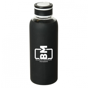 Promotional products: Queensway 520 Ml. (17.5 Oz.) Borosilicate Glass Bottle