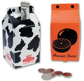 Promotional products: Drink Carton Coin Bank