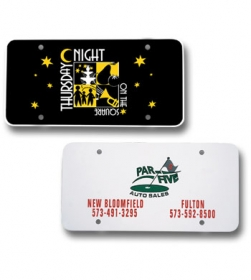 Promotional products: License plate insert