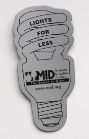 Promotional products: Energy Saver Light Bulb Flexible Magnet