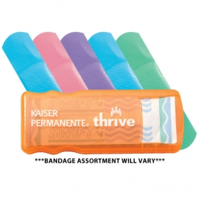 Promotional products: Bandage dispenser w/ colored bandages